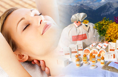 Special massages with Chrystal products